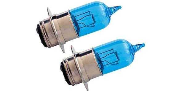 amazon com: kawasaki prairie 360 96-08 h6 xenon hid hyper blue/white  headlight bulb bulbs: automotive
