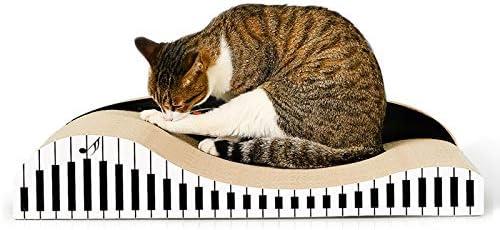 WTYD ペット用品 CP071ピアノ型猫ソファ段ボール紙猫スクラッチボードキャットリター爪のおもちゃ 家庭用ペット
