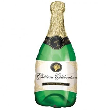 Globo de plástico en forma de botella de champán boda ...