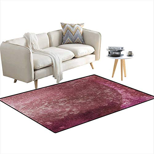 Kids Carpet Playmat Rug Splatteredark Rose hanpaintebackground 4'x18'