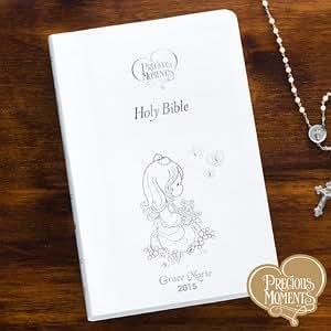 Personalized Children's Bible - Precious Moments - White