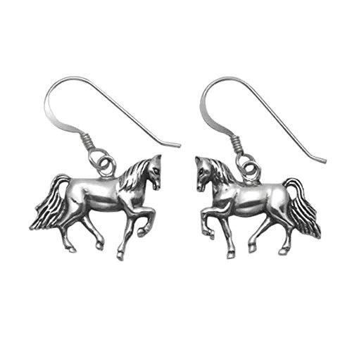 Stainless Steel Walking Horse Wire Earrings