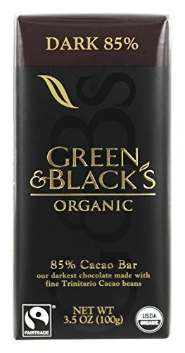Blacks Organic Dark Chocolate (Green & Black's Organic - Dark Chocolate Bar 85% Cocoa - 3.5 oz (pack of 2))