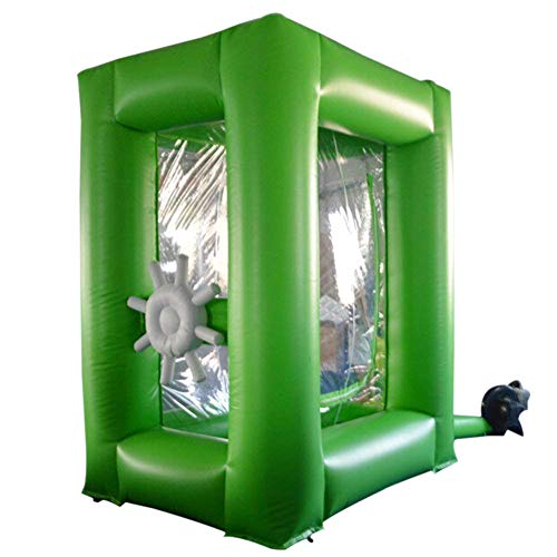 (Sayok PVC Inflatable Cash Cube Money Grab Machine Booth with Air Blower for Advertising Event Promotion(Green))
