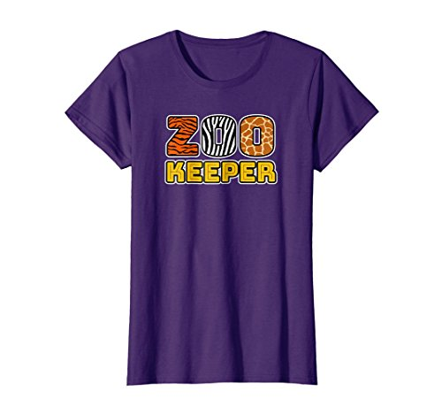 (Womens Zookeeper | African Savannah Animal Pattern Print T-shirt Small)