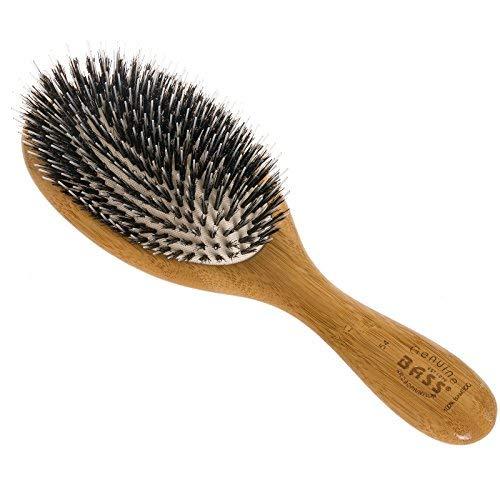Brush - Large Oval Cushion Wild Boar/Nylon Bristle Wood Handle Bass Brushes 1 Brush