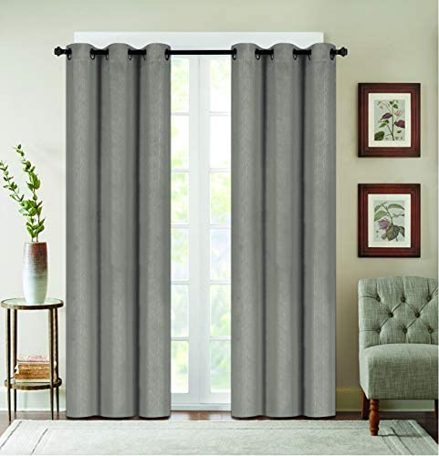 Sally Textiles Denver Blackout Window Panel, Light Gray