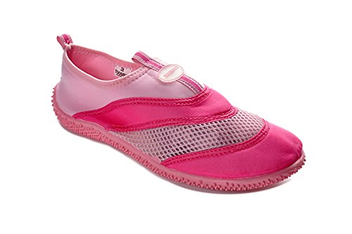 Tosbuy Girls's Slip on Water Shoes Beach Aqua Pink Size - Razor Ban The