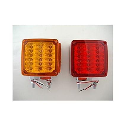 amazon com: united pacific 36 led amber red side marker turn signal semi  fender lights: automotive