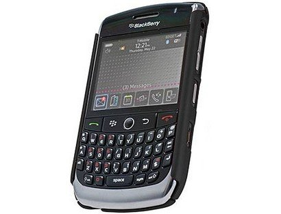 Cellet Black Rubberized Proguard For Blackberry Curve 8900 (Rubberized Blackberry Curve)