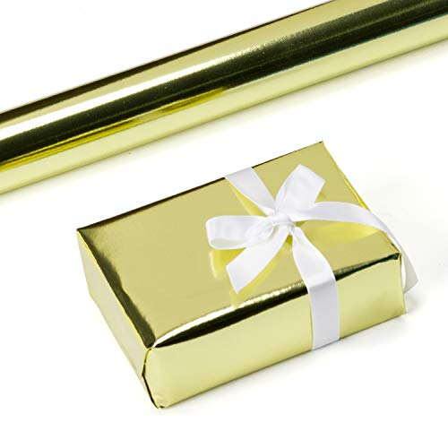 RUSPEPA Gold Metallic Wrapping Paper-81.5 Sq Ft-Solid Color Paper Perfect for Wedding,Birthday,Christmas,Baby Show Gifts-30Inch X -