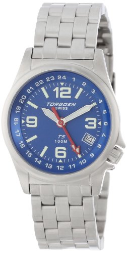 Torgoen Swiss Women's T05602 Zulu Time Stainless Steel Watch