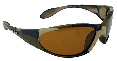 rivenditore di vendita 32940 527e7 Occhiali da sole con lenti polarizzate grigie, colore: marrone mimetico Cat  3 lenti polarizzate e protezione UV400