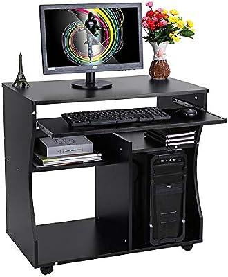 lyrlody Escritorio para computadora, portátil de Madera con ...