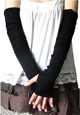 Women Stretchy Long Sleeve Fingerless Gloves