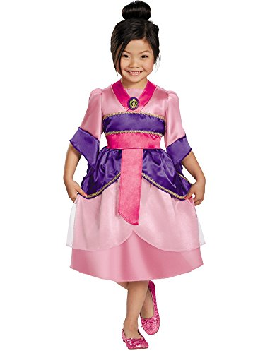 Disguise Disney's Mulan Sparkle Classic Girls Costume, (Disney Mulan Halloween Costume)