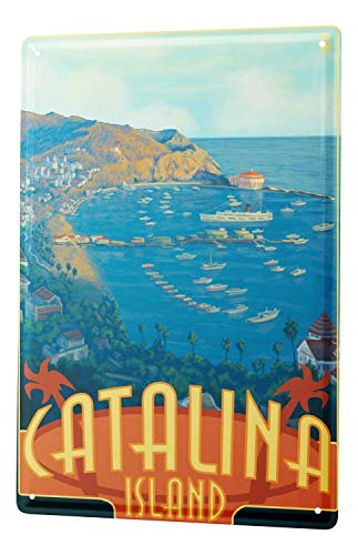 Globetrotter Catalina Aluminum Metal Sign Heavy Duty Funny Decoration Tin Signs