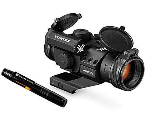 Vortex Optics Strikefire II Red Dot Sight - 4 MOA Red/Green Dot with Vortex Lens Pen