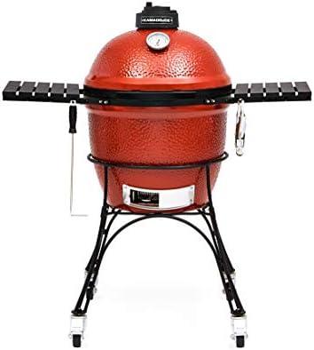 KamadoJoe kj23rh Barbecue au Charbon de Bois Classic Joe Red, en céramique, Rouge,