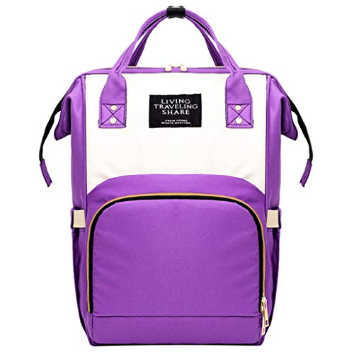 - Londony✡ Diaper Bag Backpack, Multifunction Travel Back Pack Maternity Baby Nappy Changing Bags, Large Capacity, Stylish Purple