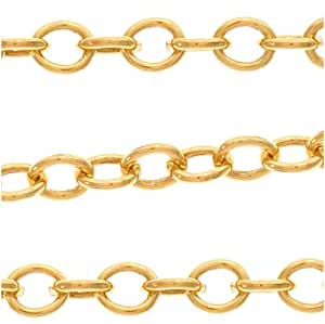 14 20 gold filled cable chain 2mm bulk by for Craft chain by the foot