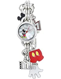 Disney Women's Mickey Mouse Dial Charm Watch Mother-Of-Pearl MK2066
