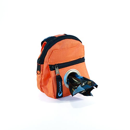POOCH POUCH - Orange Backpack Dispenser & Dog Waste Pick-Up Bags (20ea) by lola bean