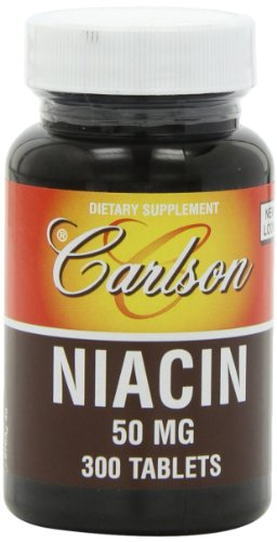Carlson Labs Niacin, 50mg, 300 Tablets