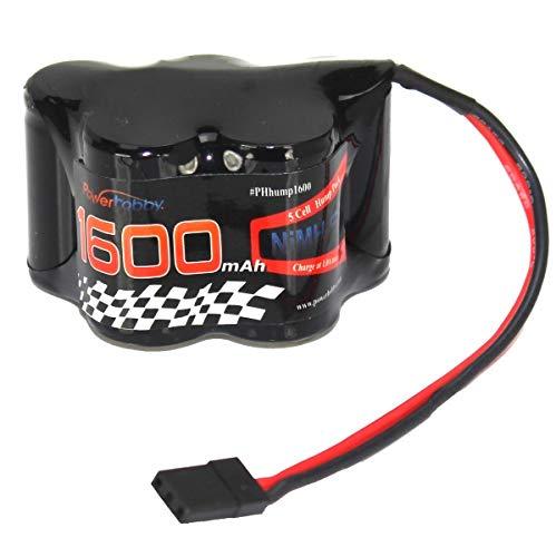(Powerhobby 6V 1600mAh NiMH Receiver Hump Battery Pack Fits : 1/8 1/10 Losi T-Maxx HPI Ofna Mugen Kyosho)
