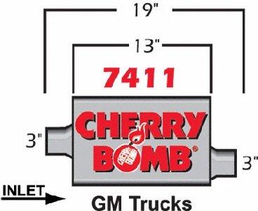 Cherry Bomb 7411 Pro Muffler 7411CB