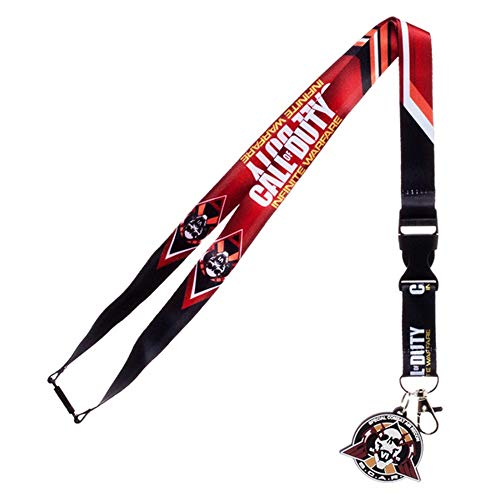 Call Of Duty Official Lanyard (One Size) (Red/Black)