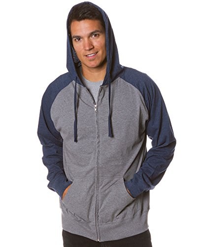 - Global Blank Extra Small Grey and Navy Longsleeve Lightweight Hoodie Jersey T Shirt Material