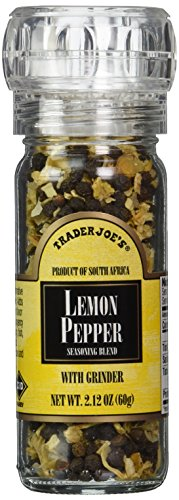 (Trader Joe's Lemon Pepper Seasoning Blend with a Built in Grinder)