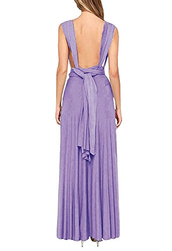 Bridesmaid Dress Maxi LADY Purple PARTY Women Long Halter Dress Dress Wrap Way Sexy Bandage Convertible Cocktail Boho Multi qwAUZx0UY