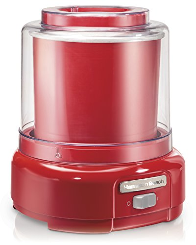 Hamilton Beach Ice Cream Maker, 1.5-Quart, Red (Machine Salt)