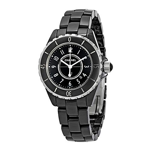 Ceramic Chanel Watch Black - CHANEL Women's J12 Ceramic & Stainless Steel Watch, Black