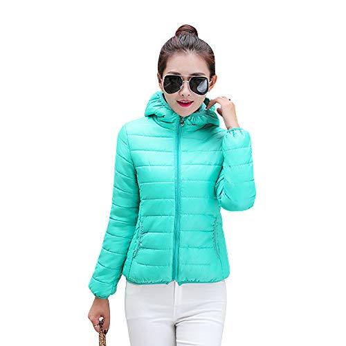 Cappotto Blu Trapuntato Piumino Giacca Corto Addensare Giacche Imbottito Inverno Caldo Yihigh Moda Con Donna Lago Cappuccio PZq48