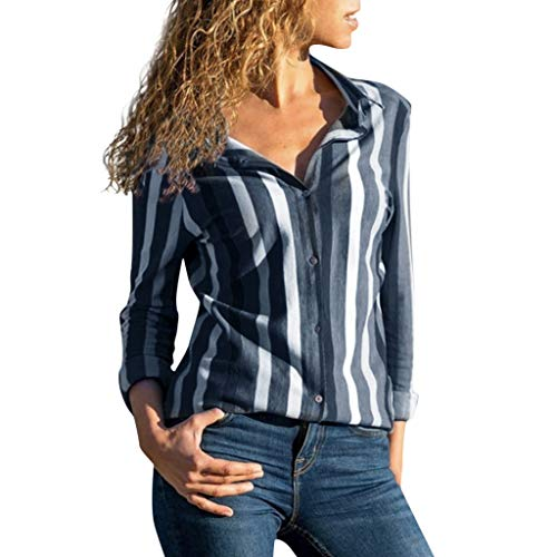 - Stripes Roll up Sleeve Button Down Blouses Tops,Londony Womens V Neck Long Sleeve Blouses Tops Casual Work Shirt Black
