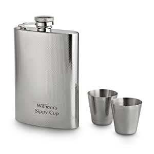 Personalized Textured Flask Set Gift