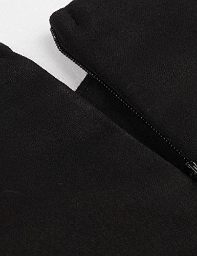 VKStar - Vestido - trapecio - Lunares - Sin mangas - para mujer negro