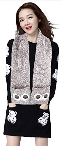 Adult Winter Scarf Candy Colors