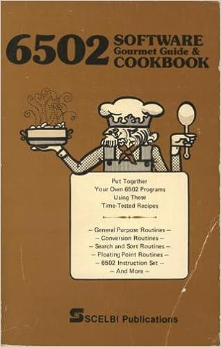 6502 Software Gourmet Guide Cookbook Robert Findley Amazon