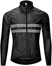 Wosawe Men's High Visibility Cycling Wind Vest Sleeveless Reflective Bicycle G