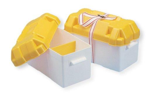 Batteriekasten 394 x 182 x 196 weiß/gelb