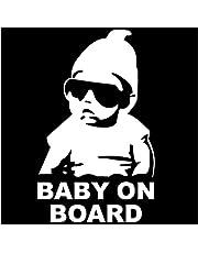 Baby on Board Car Sticker Wit