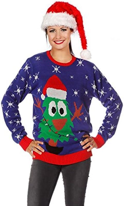 Sweter bożonarodzeniowy choinka Ugly Christmas sweter sweter Boże Narodzenie S-XXL - l: Spielzeug