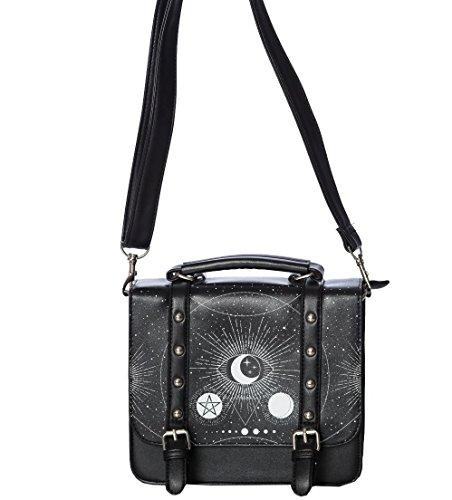 Bannato Abbigliamento Fünfzack Occulto Eye Stream Gothik Cosmic Small Handbag