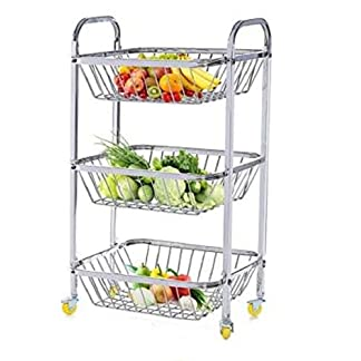 3 Shelf Trolley With Wheels