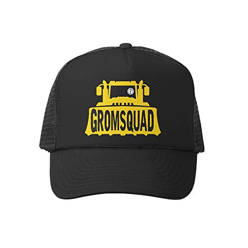 (Grom Squad Kids Trucker Hat - Mesh Adjustable Baseball Cap for Boys & Girls - Baby, Infant, Toddler, School-Age Sizes (5-10yrs (Super), GS Tractor)