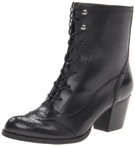 Nine West Women's Coastguard Bootie,Black Leather,6 M (Coast Guard Boots)